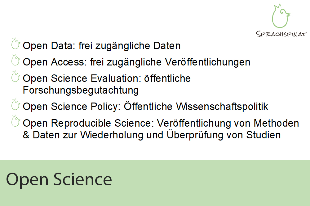 Open Science: Open Data, Open Access, Open Research Evaluation, Open Research Policy, Open Reproducible Science