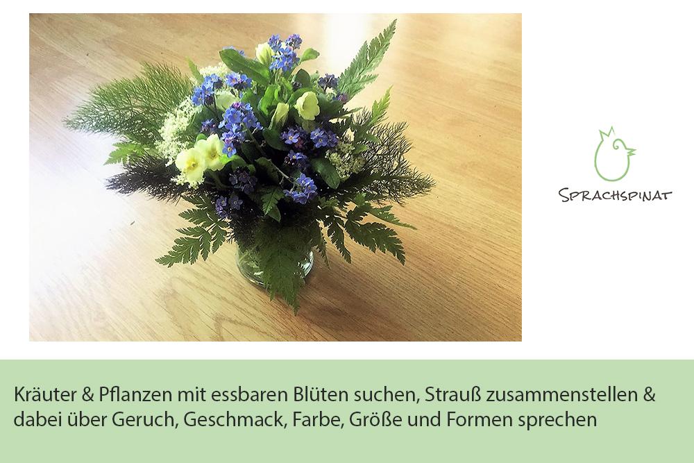 Abb.1: Sprachspinat-Sprachanlass essbarer Strauß