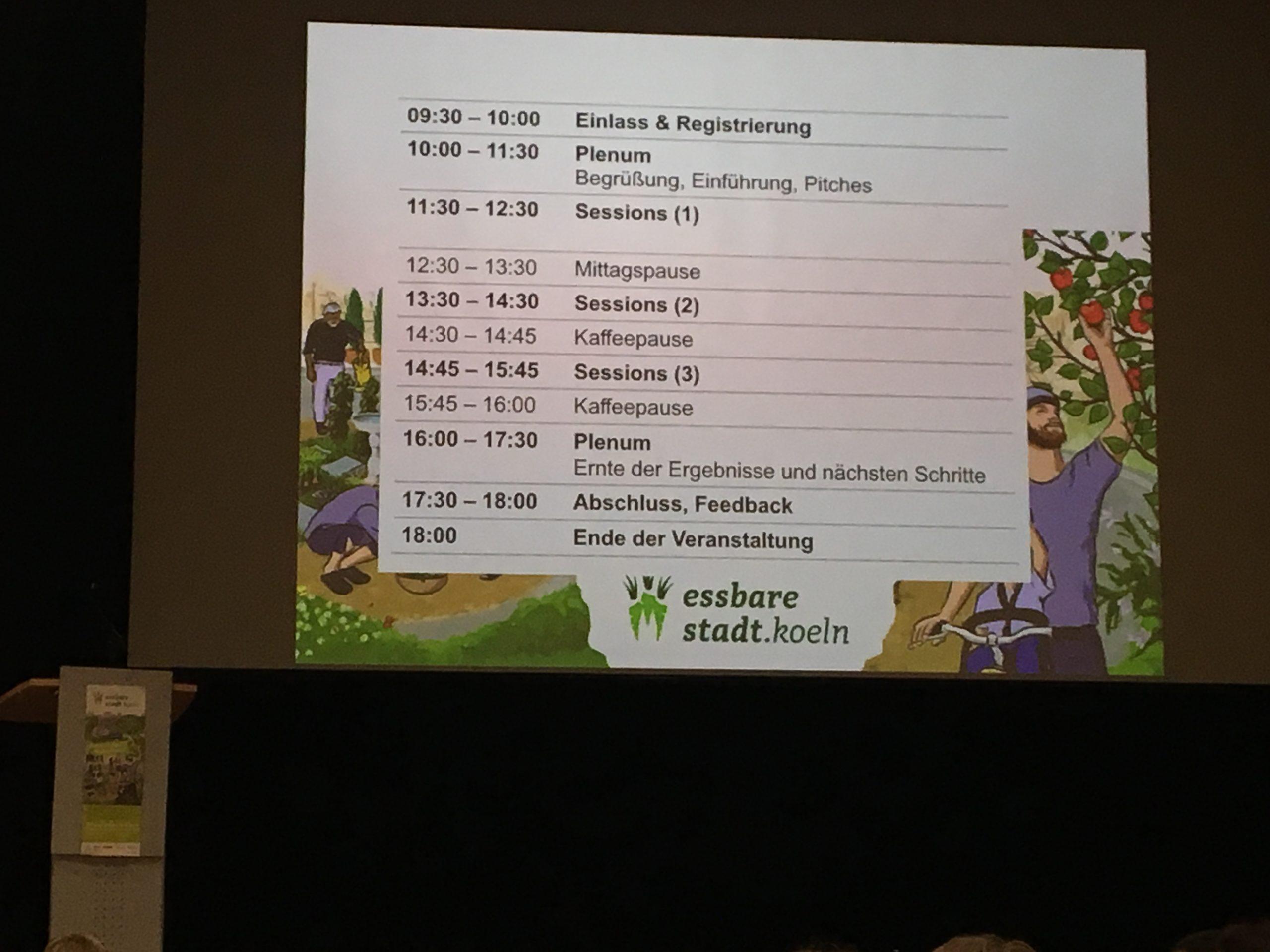 """Barcamp zur """"essbaren Stadt"""" Köln"""