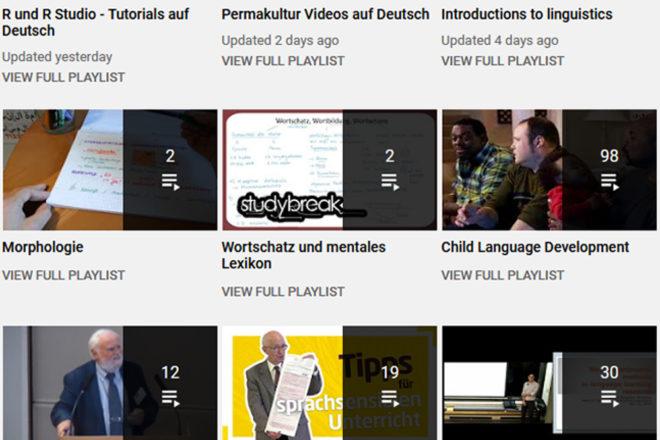 Videos, Podcasts, Webseiten und andere Ressourcen für die Sprachwissenschaft