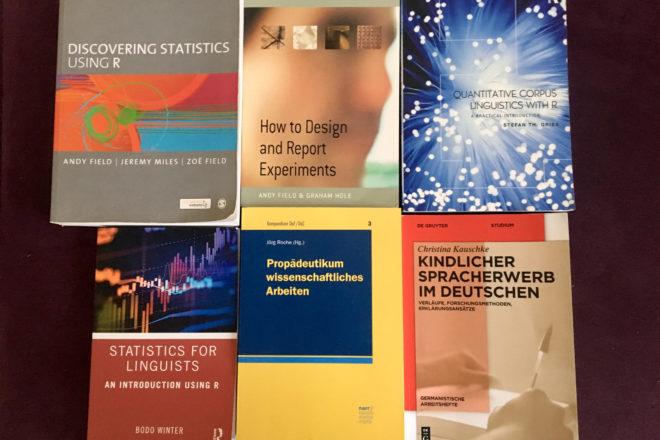 Methoden- und Statistikbücher für den Einstieg in die empirische sprachwissenschaftliche Forschung