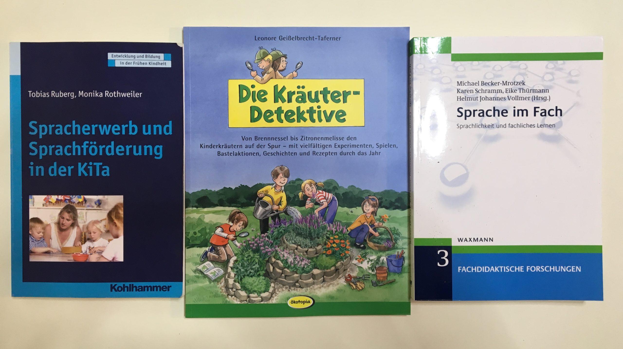 Bücher zu den Themen Sprachentwicklung, Sprachbildung, Sprachförderung, sprachsensibler Unterricht und BNE