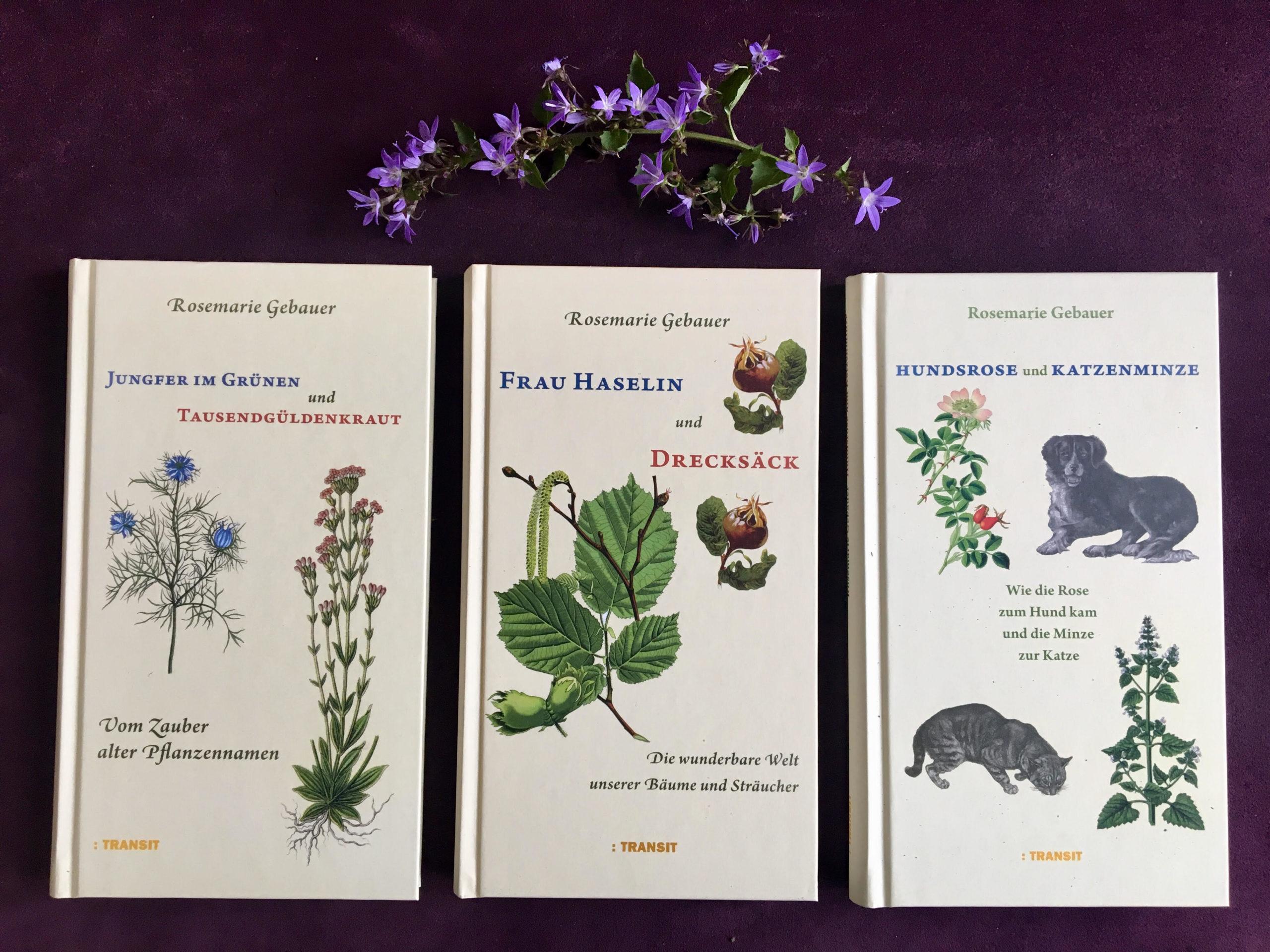 Bücher von Rosemarie Gebauer mit Glockenblumen