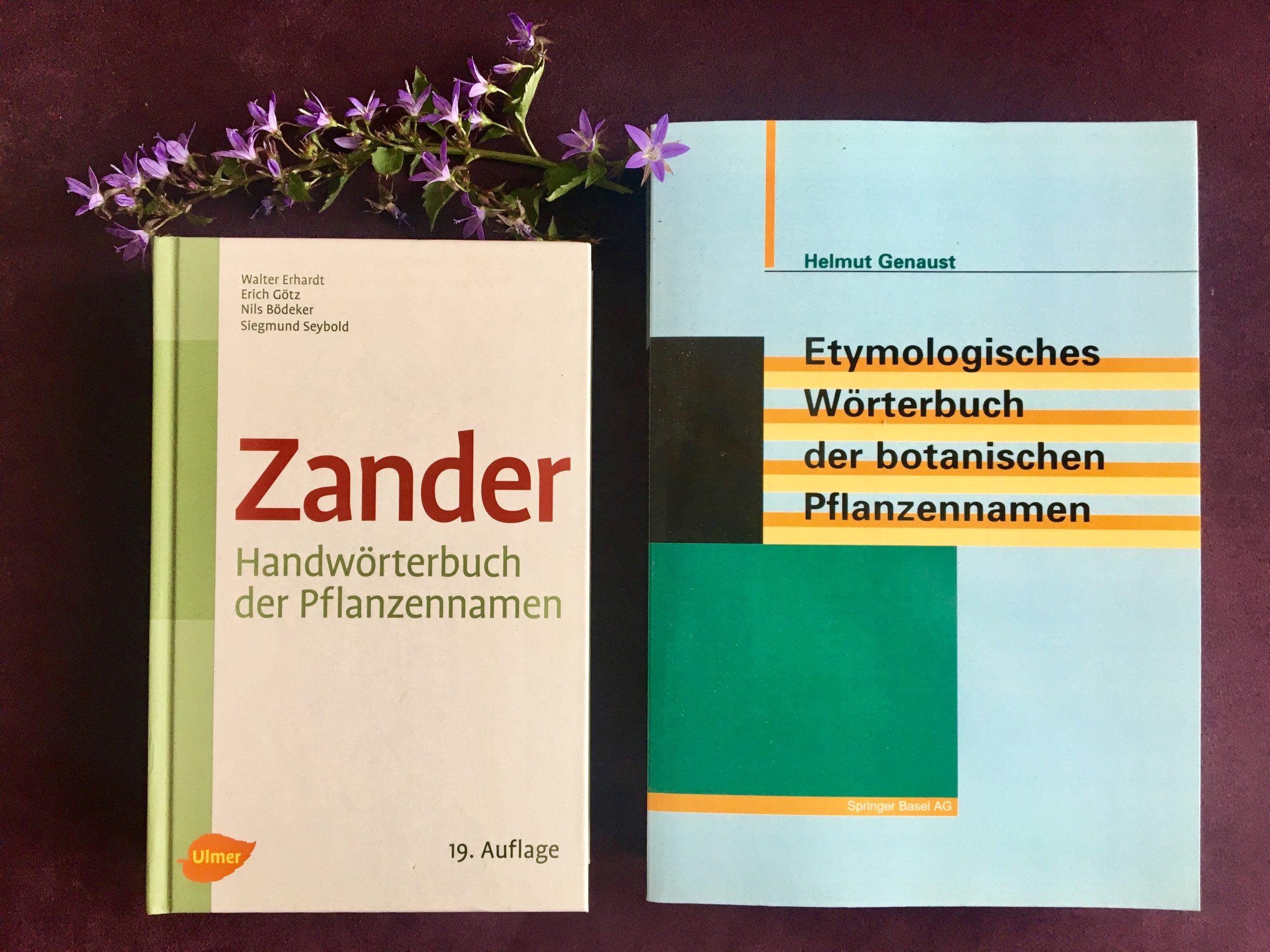 Wörterbücher für Pflanzennamen mit Glockenblumen