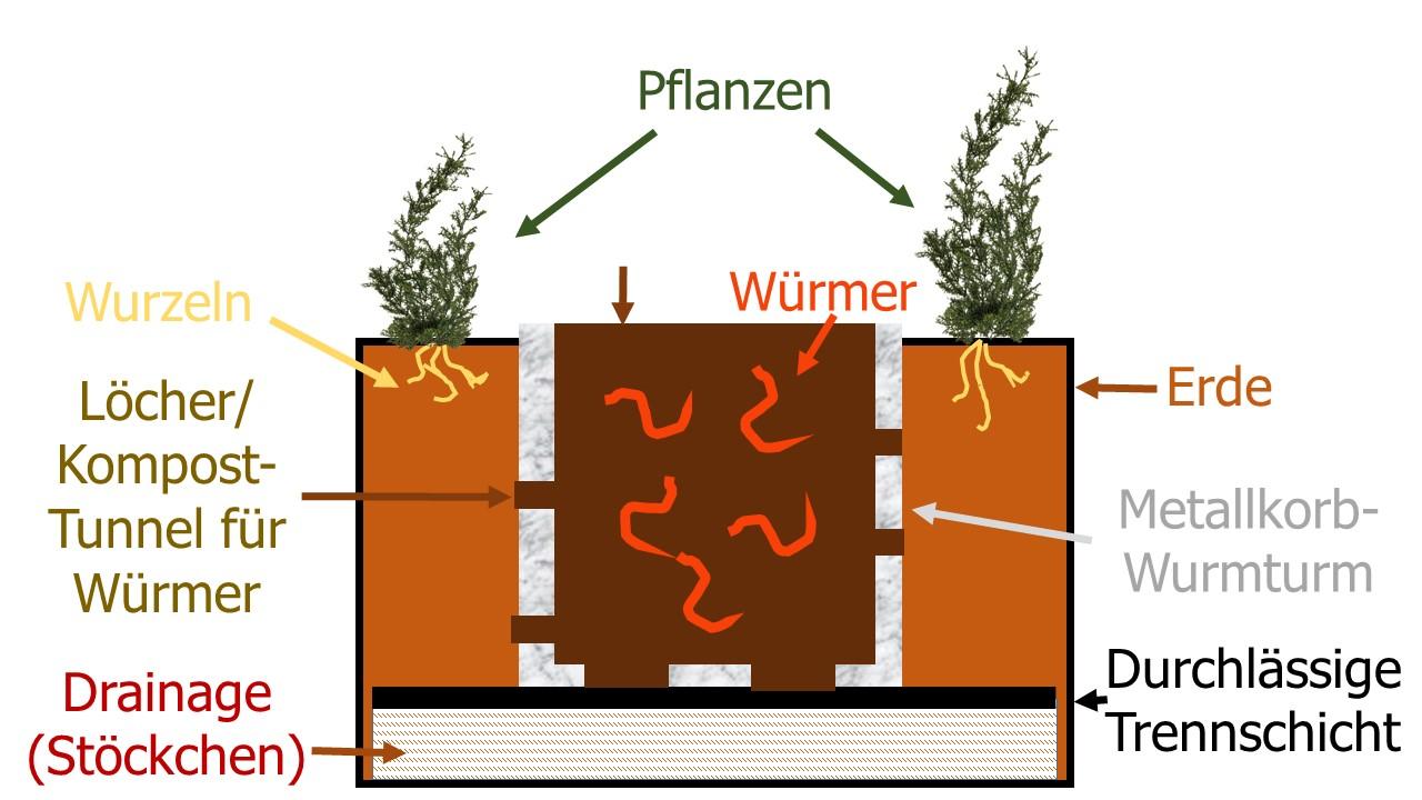 Die Korb-Variante der WuPf-Wurm-Pflanzen-Kiste